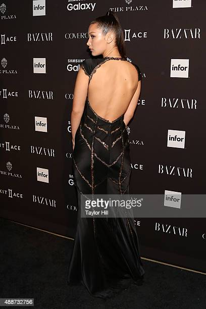 Bella Hadid attends the 2015 Harper ICONS Party at The Plaza Hotel on September 16 2015 in New York City