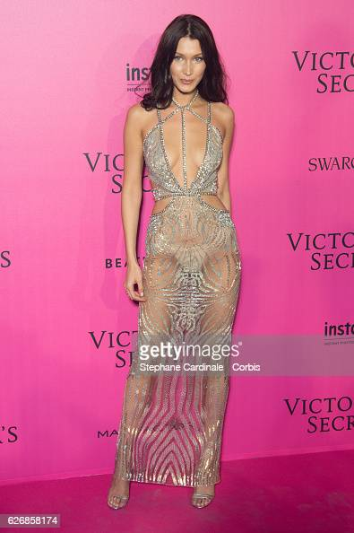 Bella Hadid attends the 2016 Victoria's Secret Fashion Show after party at Le Grand Palais on November 30 2016 in Paris France