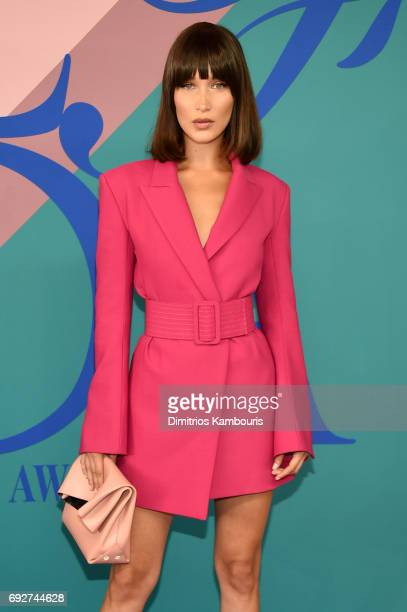 Bella Hadid attends the 2017 CFDA Fashion Awards at Hammerstein Ballroom on June 5 2017 in New York City