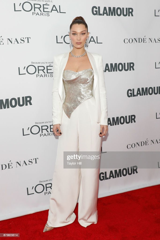 Bella Hadid attends the 2017 Glamour Women Of The Year Awards at Kings Theatre on November 13, 2017 in New York City.