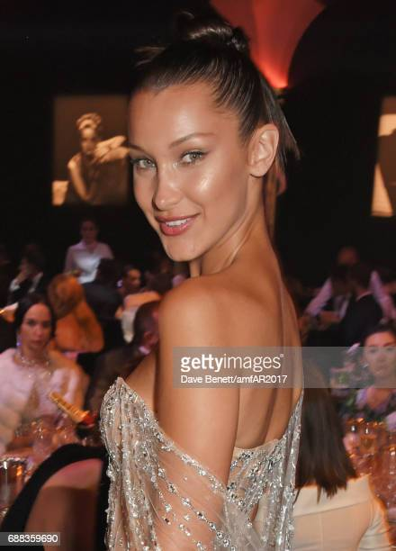 Bella Hadid attends the amfAR Gala Cannes 2017 at Hotel du CapEdenRoc on May 25 2017 in Cap d'Antibes France