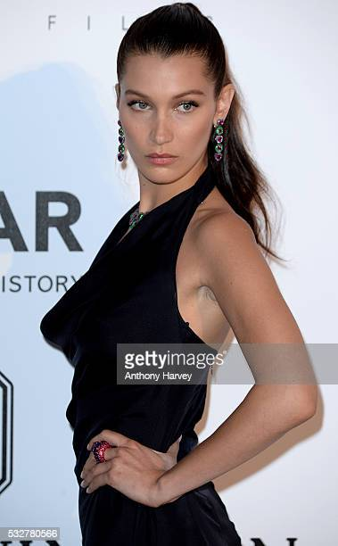 Bella Hadid attends the amfAR's 23rd Cinema Against AIDS Gala at Hotel du CapEdenRoc on May 19 2016 in Cap d'Antibes France