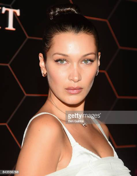 Bella Hadid attends the Bulgari launch of new fragrance 'Goldea The Roman Night' on September 6 2017 in the Brooklyn borough of New York City