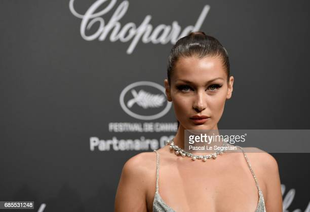 "Bella Hadid attends the Chopard ""SPACE Party"" hosted by Chopard's copresident Caroline Scheufele and Rihanna at Port Canto on May 19 in Cannes France"