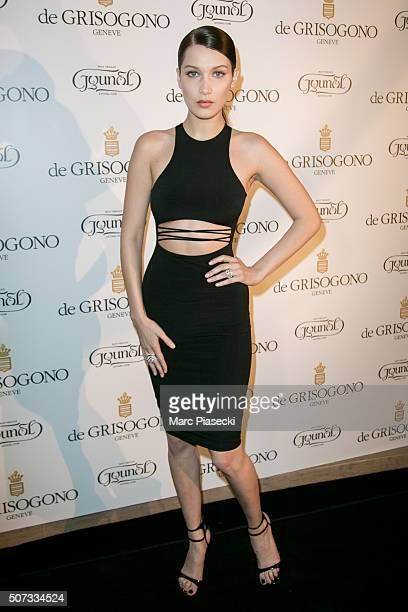 Bella Hadid attends the 'De Grisogono' La Boetie cocktail on January 28 2016 in Paris France