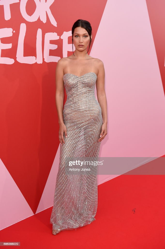 Bella Hadid attends the Fashion for Relief event during the 70th annual Cannes Film Festival at Aeroport Cannes Mandelieu on May 21, 2017 in Cannes, France.