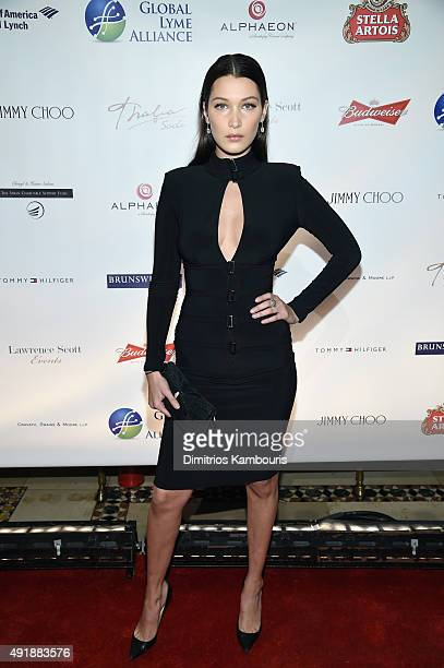 Bella Hadid attends the Global Lyme Alliance 'Uniting for a LymeFree World' Inaugural Gala at Cipriani 42nd Street on October 8 2015 in New York City