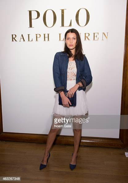 Bella Hadid attends the Ralph Lauren Polo Mens and Womens presentation during MercedesBenz Fashion Week Fall 2015 on February 12 2015 in New York City