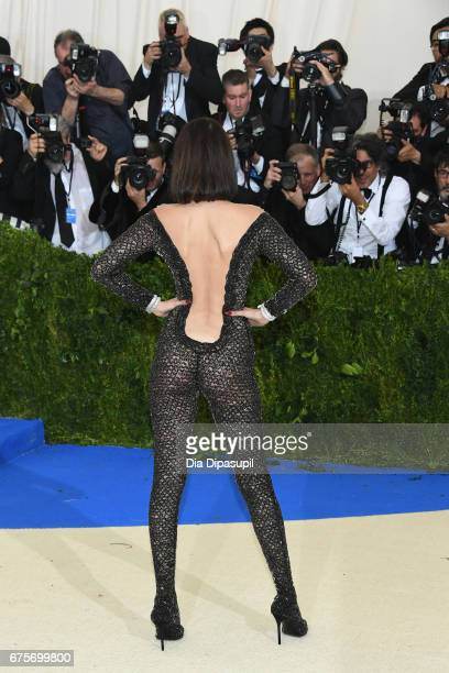 Bella Hadid attends the 'Rei Kawakubo/Comme des Garcons Art Of The InBetween' Costume Institute Gala at Metropolitan Museum of Art on May 1 2017 in...