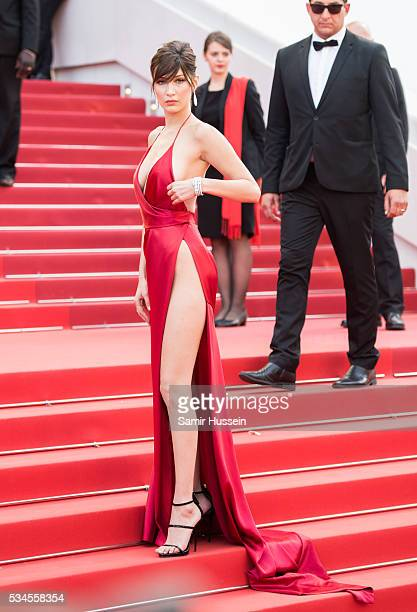 Bella Hadid attends the screening of 'The Unkown Girl ' at the annual 69th Cannes Film Festival at Palais des Festivals on May 18 2016 in Cannes...