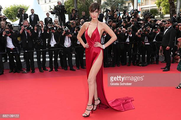 Bella Hadid attends 'The Unknown Girl ' Premiere during the 69th annual Cannes Film Festival at the Palais des Festivals on May 18 2016 in Cannes...