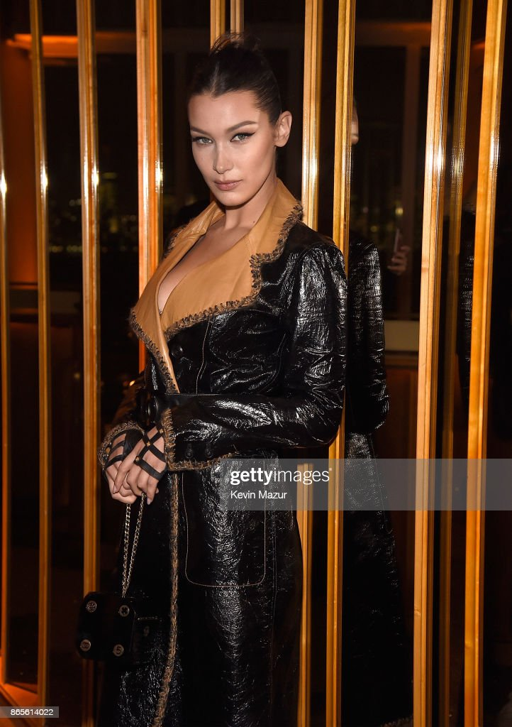 Bella Hadid attends V Magazine's intimate dinner in honor of Karl Lagerfeld at The Top of The Standard on October 23, 2017 in New York City.