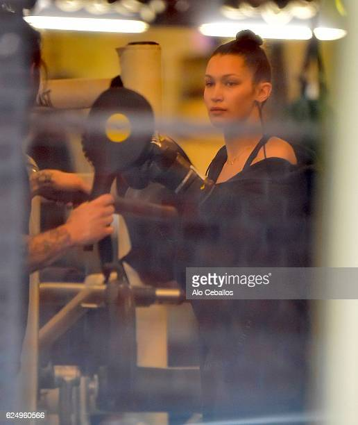Bella Hadid is seen at the Gotham gym in the West Village on November 21 2016 in New York City