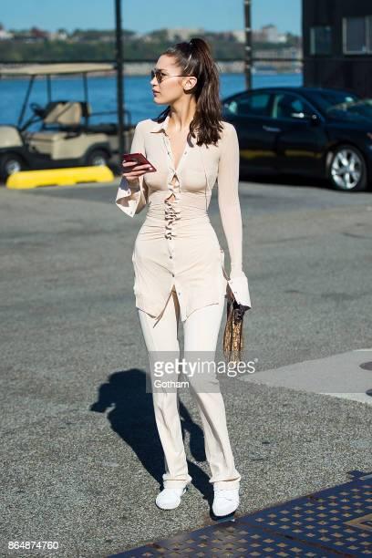 Bella Hadid is seen in Chelsea on October 21 2017 in New York City