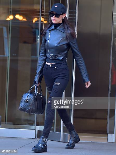Bella Hadid is seen in the East Village on January 17 2017 in New York City