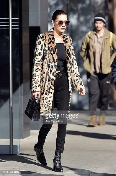 Bella Hadid is seen in the East Village on November 18 2016 in New York City