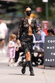 Celebrity Sightings In New York City - August 01, 2021