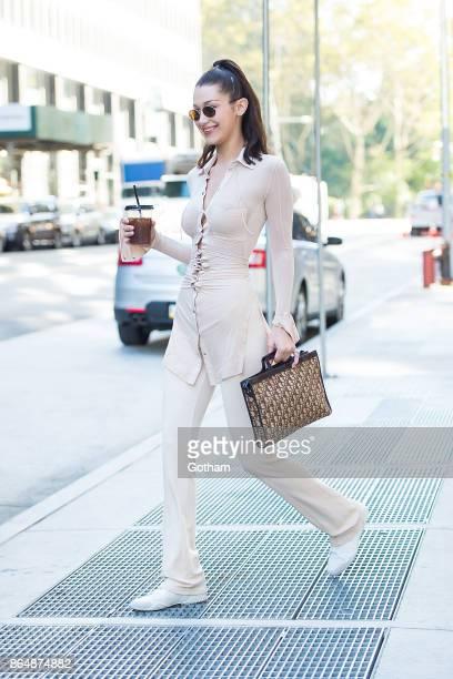 Bella Hadid is seen in Tribeca on October 21 2017 in New York City