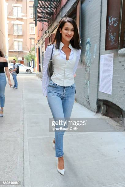 Bella Hadid is seen on August 26 2017 in New York City