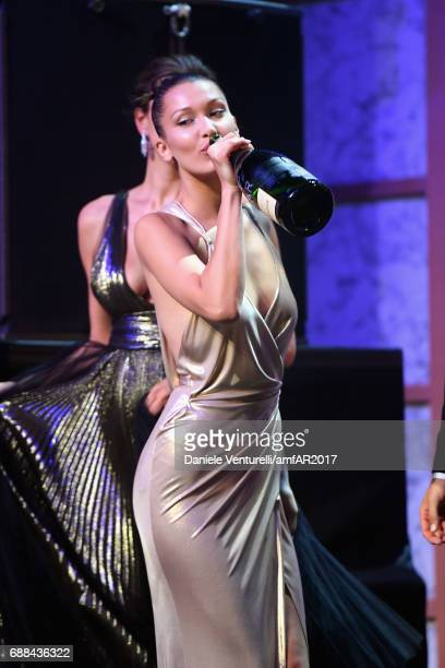 Bella Hadid is seen on stage at the amfAR Gala Cannes 2017 at Hotel du CapEdenRoc on May 25 2017 in Cap d'Antibes France