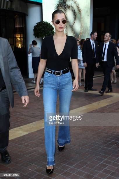 Bella Hadid is spotted at the Majestic Hotel during the 70th annual Cannes Film Festival at on May 20 2017 in Cannes France