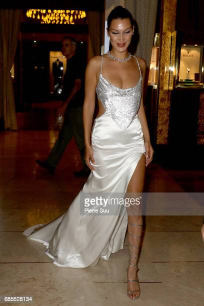 Bella Hadid is spotted at the 'Majestic'Hotel during the 70th annual Cannes Film Festival at on May 19 2017 in Cannes France