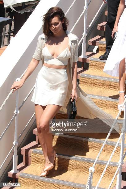 Bella Hadid is spotted during the 70th annual Cannes Film Festival at on May 17 2017 in Cannes France