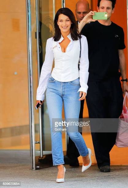 Bella Hadid on August 26 2017 in New York City