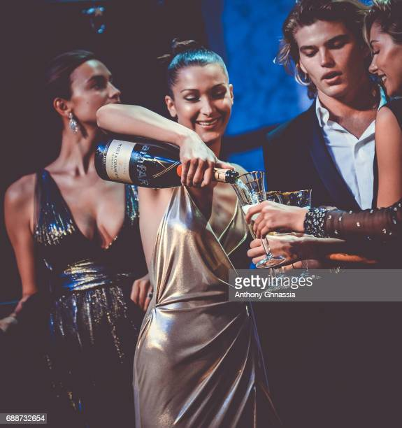 Bella Hadid onstage at the amfAR Gala Cannes 2017 at Hotel du CapEdenRoc on May 25 2017 in Cap d'Antibes France