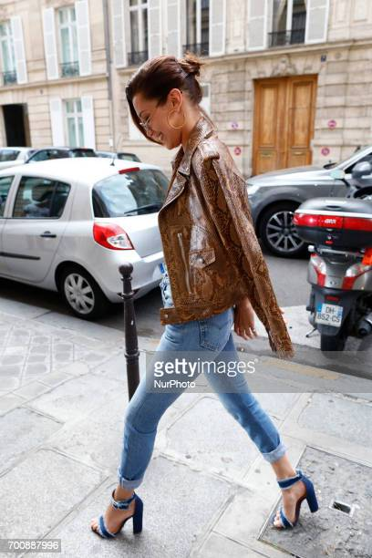 Bella Hadid out and about in Paris France on June 22 2017