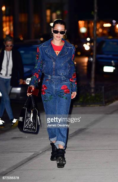 Bella Hadid seen on the streets of Manhattan on April 23 2017 in New York City