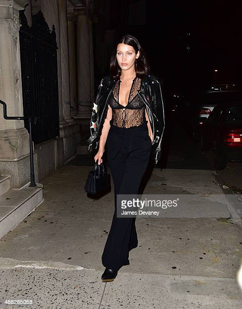 Bella Hadid seen on the streets of Manhattan on September 14 2015 in New York City