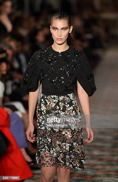 Bella Hadid walks at the Christian Dior spring summer 2017 cruise collection at Blenheim Palace on May 31 2016 in Woodstock England