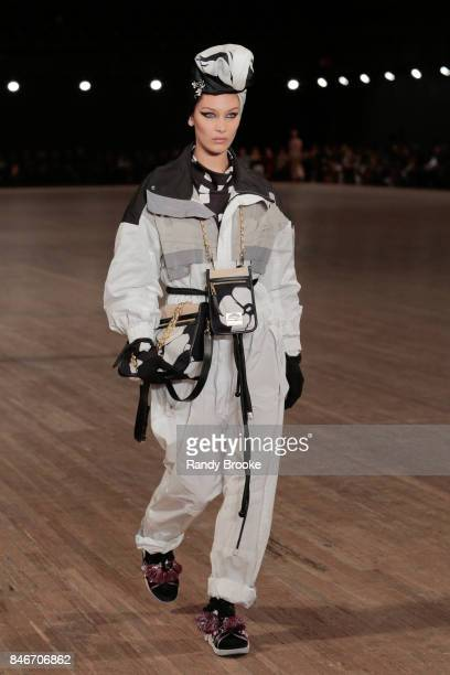 Bella Hadid walks the Marc Jacobs fashion show during New York Fashion Week The Shows on September 13 2017 in New York City