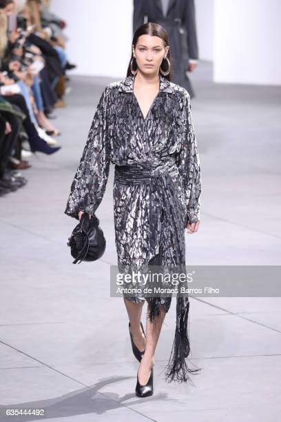 Bella Hadid walks the runway at Michael Kors show during New York Fashion Week at Spring Studios on February 15 2017 in New York City