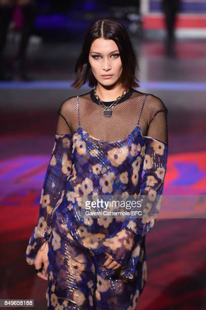 Bella Hadid walks the runway at the Tommy Hilfiger show during London Fashion Week September 2017 on September 19 2017 in London England