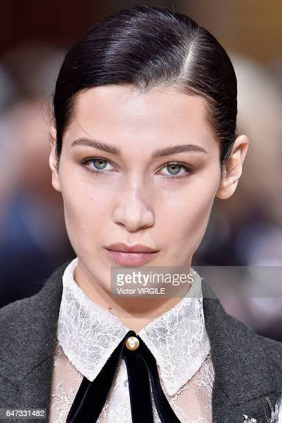 Bella Hadid walks the runway during the Lanvin Ready to Wear fashion show as part of the Paris Fashion Week Womenswear Fall/Winter 2017/2018 on March...
