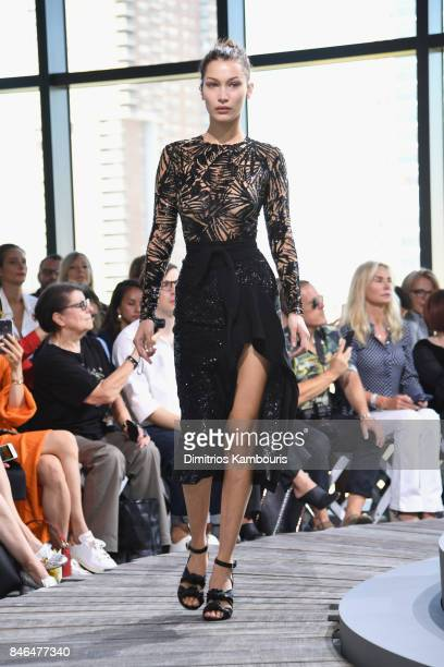 Bella Hadid walks the runway for Michael Kors Collection Spring 2018 Runway Show at Spring Studios on September 13 2017 in New York City