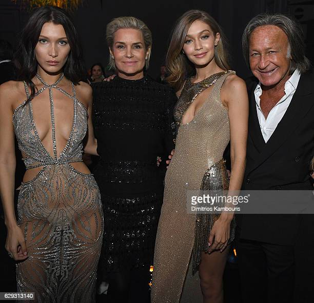 Bella Hadid Yolanda Foster Gigi Hadid and Mohamed Hadid attend the Victoria's Secret After Party at the Grand Palais on November 30 2016 in Paris...