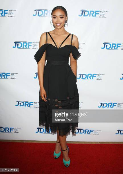 Bella Harris arrives at the JDRF LA Chapter's Imagine Gala held at The Beverly Hilton Hotel on April 22 2017 in Beverly Hills California