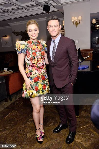Bella Heathcote and Luke Evans at PROFESSOR MARSTON AND THE WONDER WOMEN premiere party hosted by GREY GOOSE Vodka and Soho House on September 12...