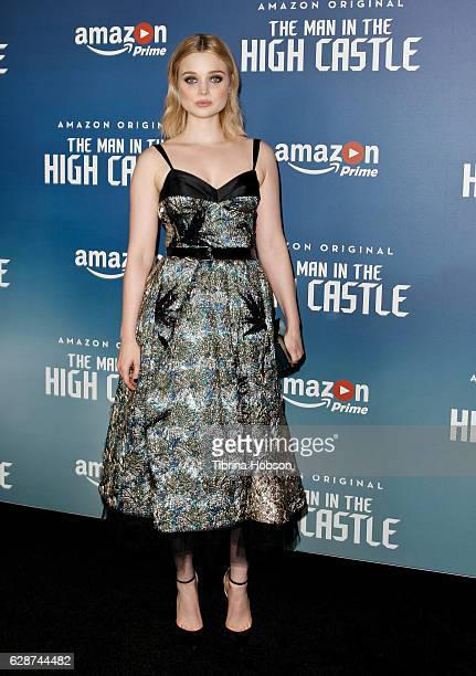 Bella Heathcote attends the Premiere Of Amazon's 'Man In The High Castle' Season 2 at Pacific Design Center on December 8 2016 in West Hollywood...