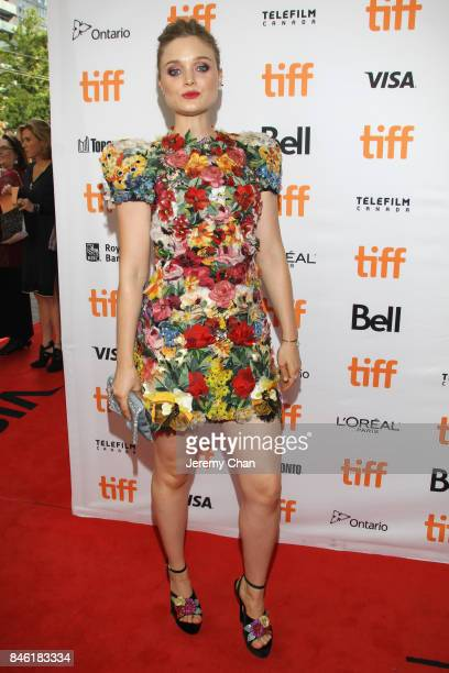 Bella Heathcote attends the 'Professor Marston The Wonder Women' premiere during the 2017 Toronto International Film Festival at Princess of Wales...