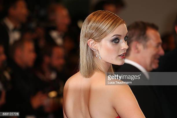 Bella Heathcote attends the screening of 'The Neon Demon' at the annual 69th Cannes Film Festival at Palais des Festivals on May 20 2016 in Cannes...