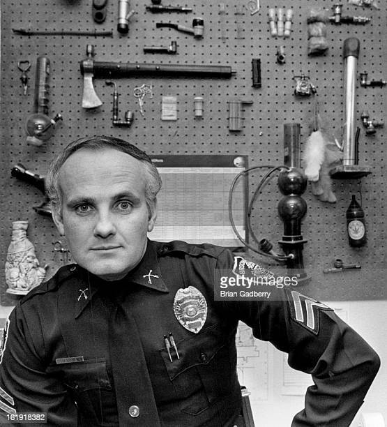 APR 4 1984 Bella Mark Boomfield Police Mark Bella with paraphernalia in his office