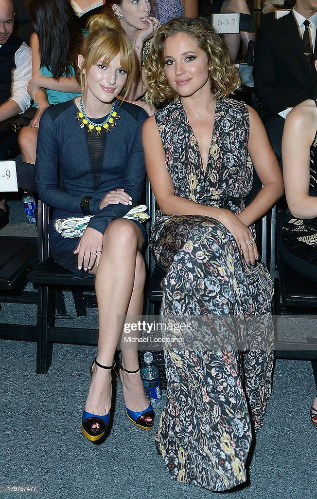 Bella Thorne and actress Margarita Levieva attend the Nicole Miller Spring 2014 fashion show during Mercedes-Benz Fashion Week at The Studio at Lincoln Center on September 6, 2013 in New York City.
