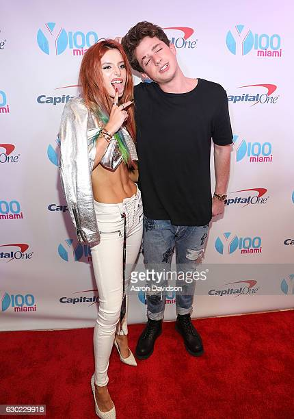 Bella Thorne and Charlie Puth attends Y100's iHeartRadio Jingle Ball 2016 at BBT Center on December 18 2016 in Sunrise Florida