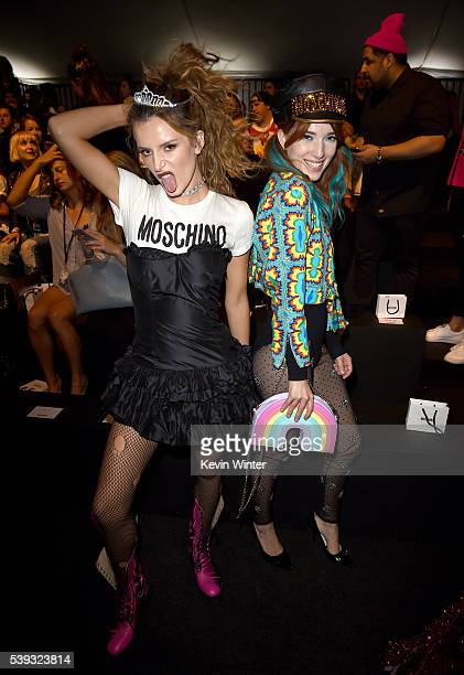 Bella Thorne and Dani Thorne attend the Moschino Spring/Summer 17 Menswear and Women's Resort Collection during MADE LA at LA LIVE Event Deck on June...
