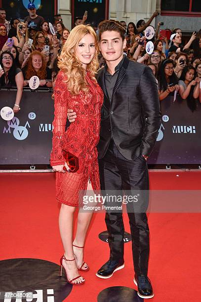 Bella Thorne and Gregg Sulkin arrive at the 2015 MuchMusic Video Awards at MuchMusic HQ on June 21 2015 in Toronto Canada