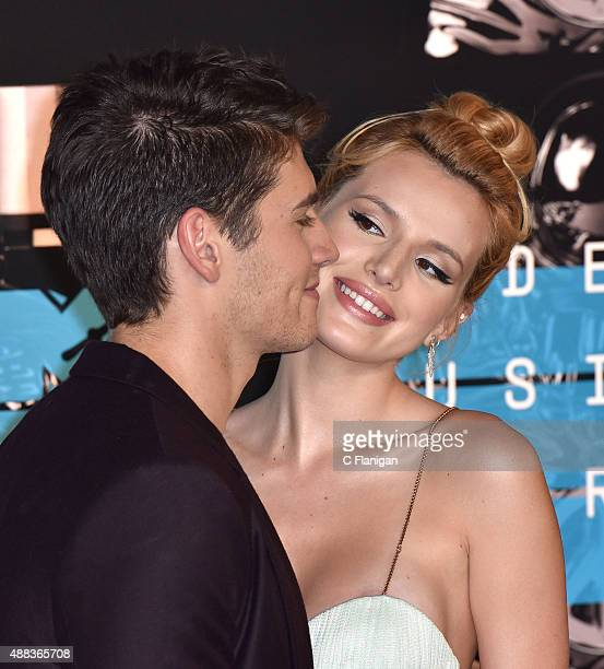 Bella Thorne and Gregg Sulkin arrive to the 2015 MTV Video Music Awards at Microsoft Theater on August 30 2015 in Los Angeles California